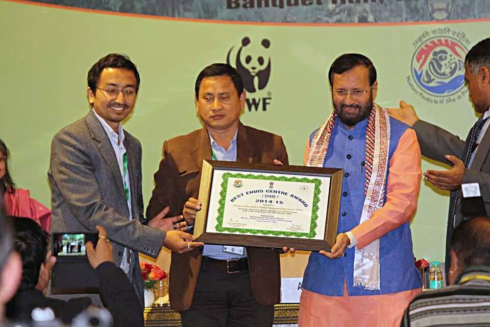 Best State ENVIS centre award to Forests, Environment & Wildlife Management Department, Sikkim